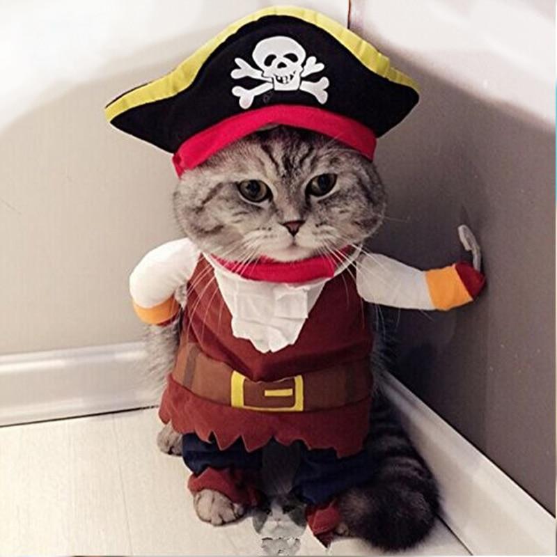 PipiFren Chat Vêtements Cosplay Pirate Costume Pour Animaux Chiens Vêtements Cosplay Pirate de Bande Dessinée Mignon Mode Yorkshire vetement chien