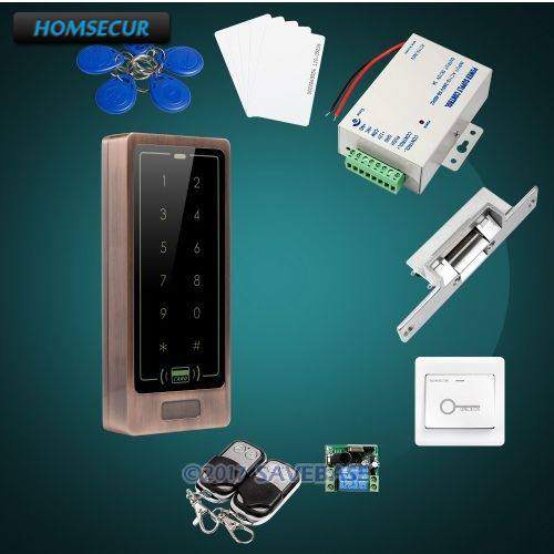 HOMSECUR DIY Red Bronze Access Control Set With Easy Operation + Electric NC Strike Lock