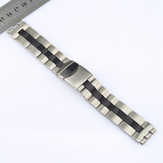 20mm high quality metal stainless steel butterfly claps strap men replacement fo