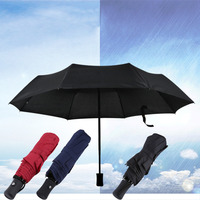 3 Colors 94 66cm Durable Fashionable Advanced Fully Automatic UV Proof Three Folding Business Solid Sunshade