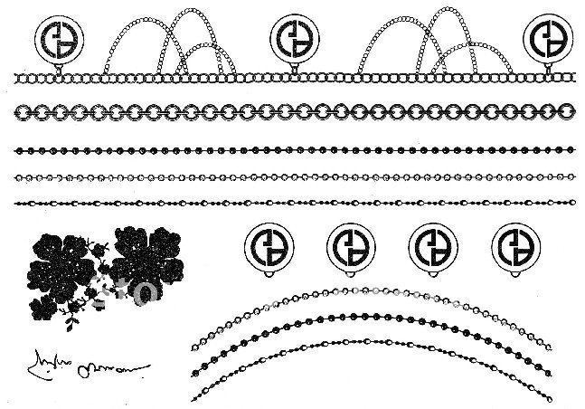 TATTOO STICKERS DesignsLeaves Pearl Necklace Amp BraceletHigh Quality Amp 80pcslot Wholesale