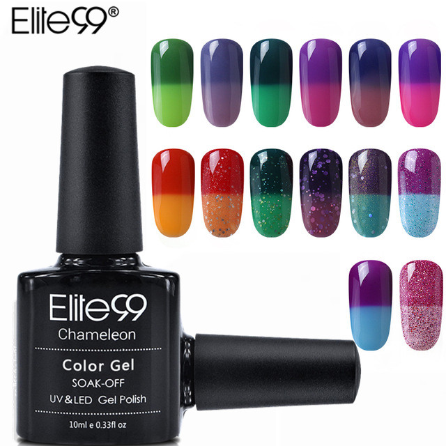 Elite99 32 Pcs/set Cheese Temperature Change Color Nail Gel Polish Soak Off UV Gel Polish Led Nail Polish Long-last Gel Lacquer elite99 29pcs set not moving cat eye gel 3d long stay cat eye effect nail gel polsih 10ml soak off uv gel lacquer semi permanent