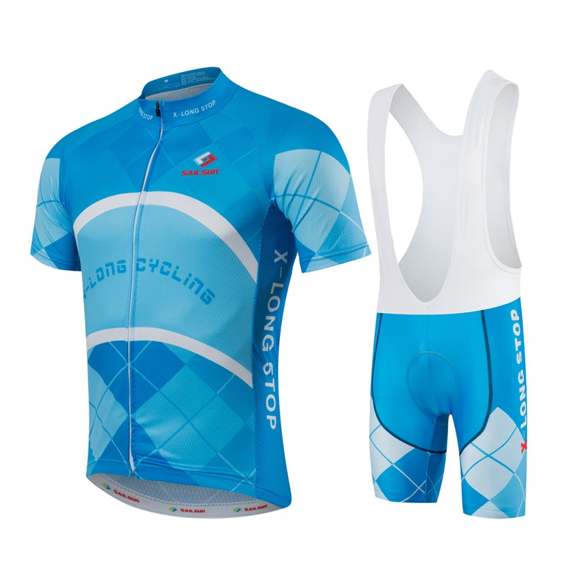 HOT SAIL SUN Men Blue MTB Cycling Clothing Summer bike Jersey Bib Shorts Male Outdoor Sports Pro team ropa Bicycle Top wear брюки спортивные adidas performance adidas performance ad094ebuoi71