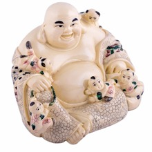 Fengshui Laughing Buddha With Five Children For Descendent Luck