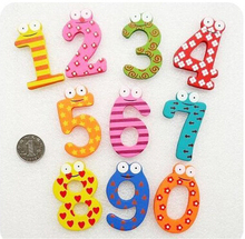 10 Number Cute Wooden Fridge Magnet Early Education Learn Kid Baby Children Building Blocks Toy