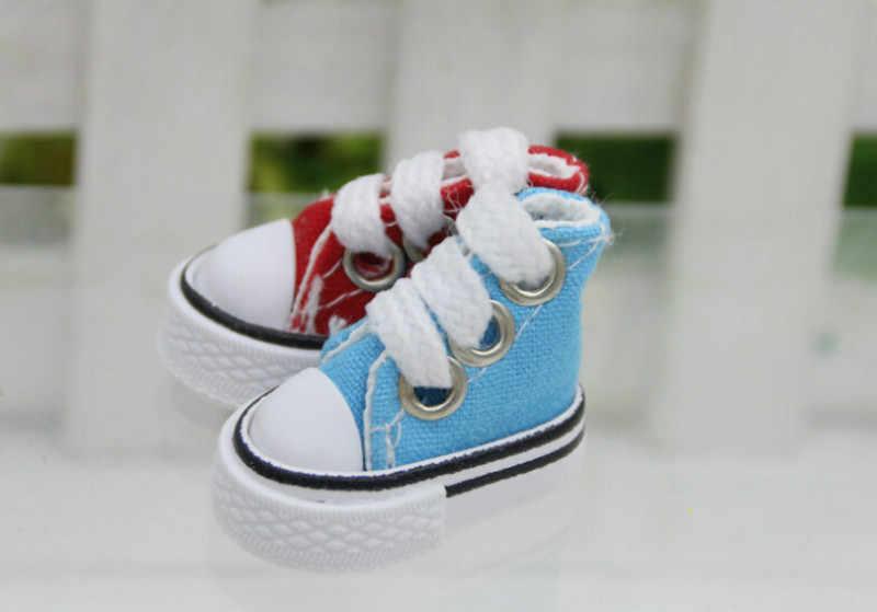 1 пара кукла обувь милые на шнуровке джинсовые парусиновые туфли подходит 12 дюймов для BJD для туфли для кукол Sneackers русские аксессуары 2019