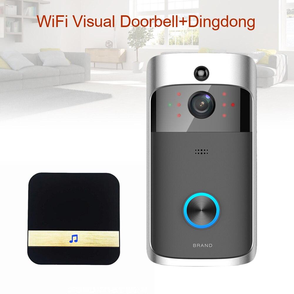 Wifi Smart Doorbell Camera Video Door Viewer Intercom Security Camera Video Peephole Digital Door Bell Wireless Video Eyes