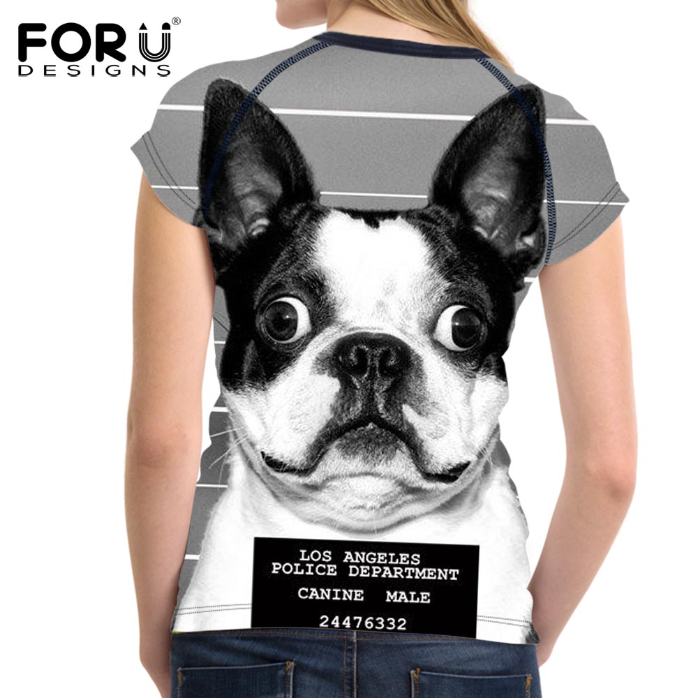 FORUDESIGNS Super Cute Chihuahua Camisetas Mujer Summer Tops - Ropa de mujer - foto 6