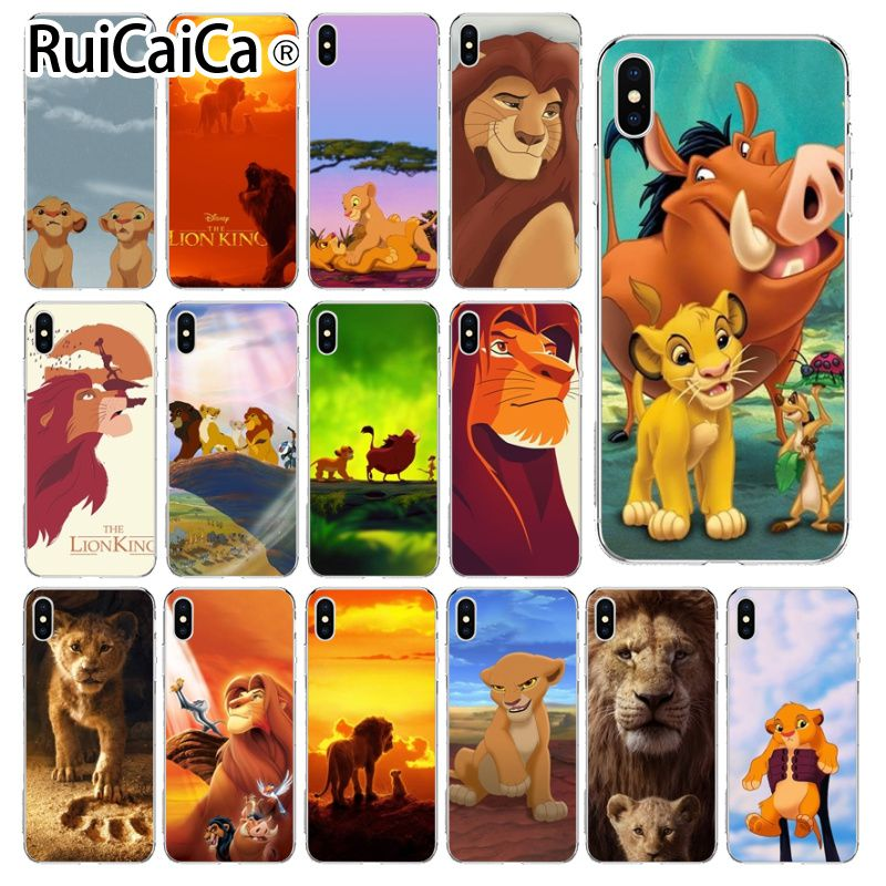 Ruicaica The Lion King movie TPU Soft Silicone Transparent Phone Case for Apple iPhone 8 7 6 6S Plus X XS MAX 5 5S SE XR Cover