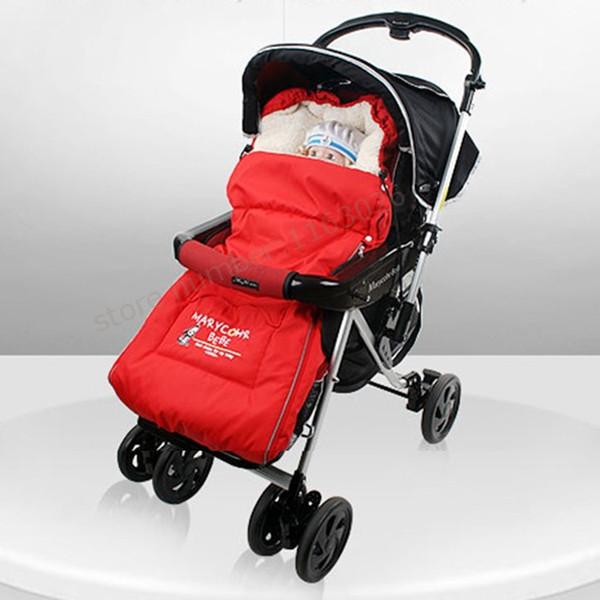 Engrosamiento calcetines térmicos bebé cochecito del paraguas del coche cochecito de bebé en general saco de dormir de invierno cojín cubierta del pie foot muff