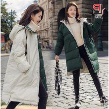 Brieuces 2018 Winter Jacket Women Long Parkas for Coat Fashion Female Down Hooded Faux Fur Collar