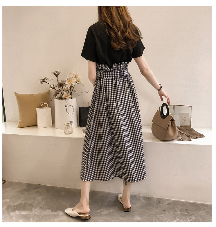 Cheap wholesale Summer dress, new large size women's air suit, fat mm bellies dress, young fat sister's two-piece set 11