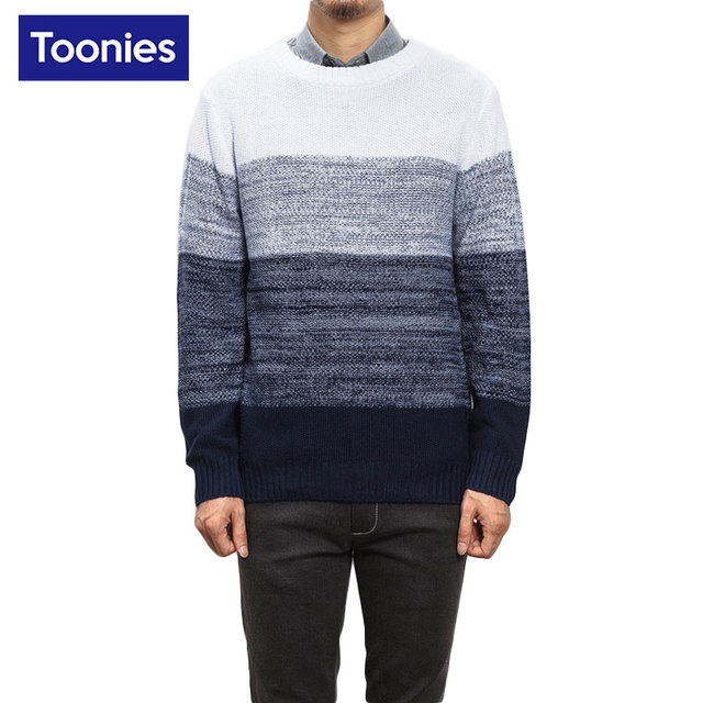 Christmas Pullover Men's Sweater Fashion Patchwork Color Spring 2017 Knitted Sweaters Men Plus Size Brand Clothing Top Blouse