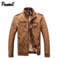 2016 зимние Мужчин хлопок шерсть лайнер PU кожаная куртка Мужская Ретро мотоциклетная куртка пальто Мужской одежды повседневная верхняя одежда куртки