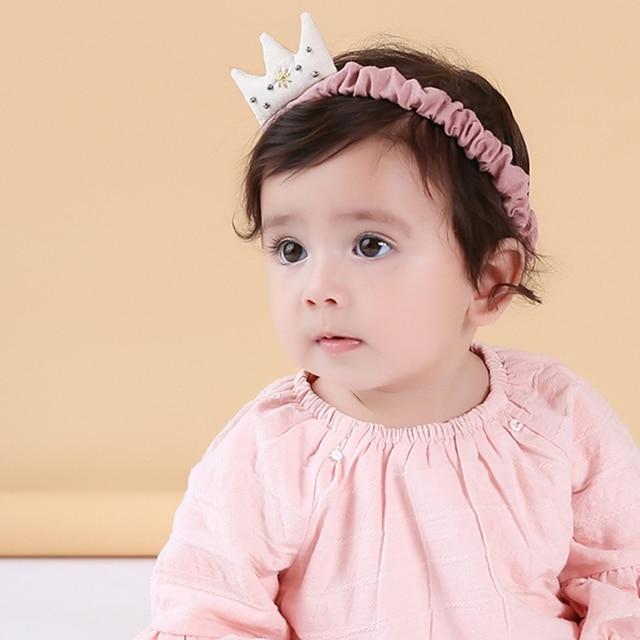 Baby Cotton Headband Kids Girls Crown Hairbands Children Headwear Hair  Accessories Princess Tiara scrunchy Headband 5bd7d62e17d