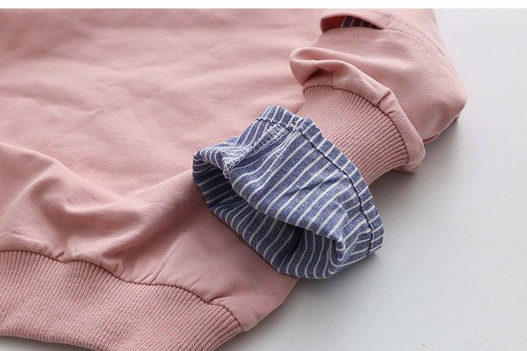 2018 Spring Autumn 2-10 11 12 Years Old Teenager Children Patchwork Fake 2 Pcs Baby Kids Basic Sweatshirt For Girls 11 12 Years (15)