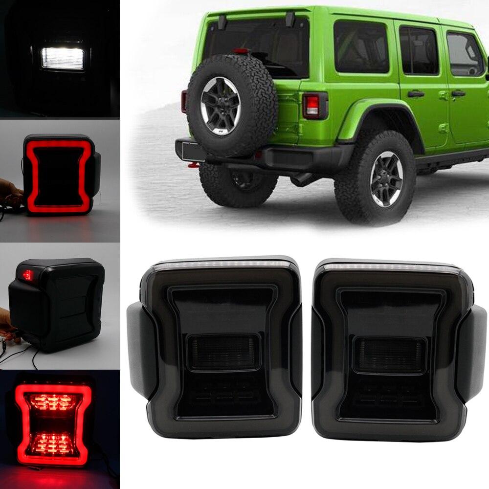 USA EU edition reverser brake turn signal LED rear tail light For Jeep wrangler JL LED