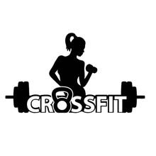 Gym Sticker Fitness Girl Crossfit Barbell Decal Body-building Posters Vinyl Wall Decals Parede Decor Mural Gym Sticker