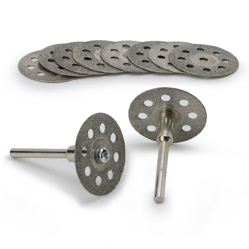 12pcs/set Mini Diamond Saw Blade Abrasive Power Tool Grinding Wheel Circular Saw Blade Cutting Disc For Dremel Drill Rotary Tool