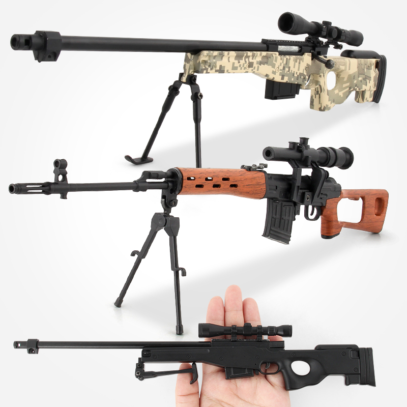 1:4 Sniper Rifle Alloy Metal Gun Model Model Building Kits Assembly Military Gun Model Toy Gift Collection Toys For Children