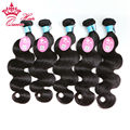 "Queen Hair Cambodian Virgin Hair Body Wave 5pcs Mixed lot 100% Unprocessed Human Hair 8""-30"" DHL Free"