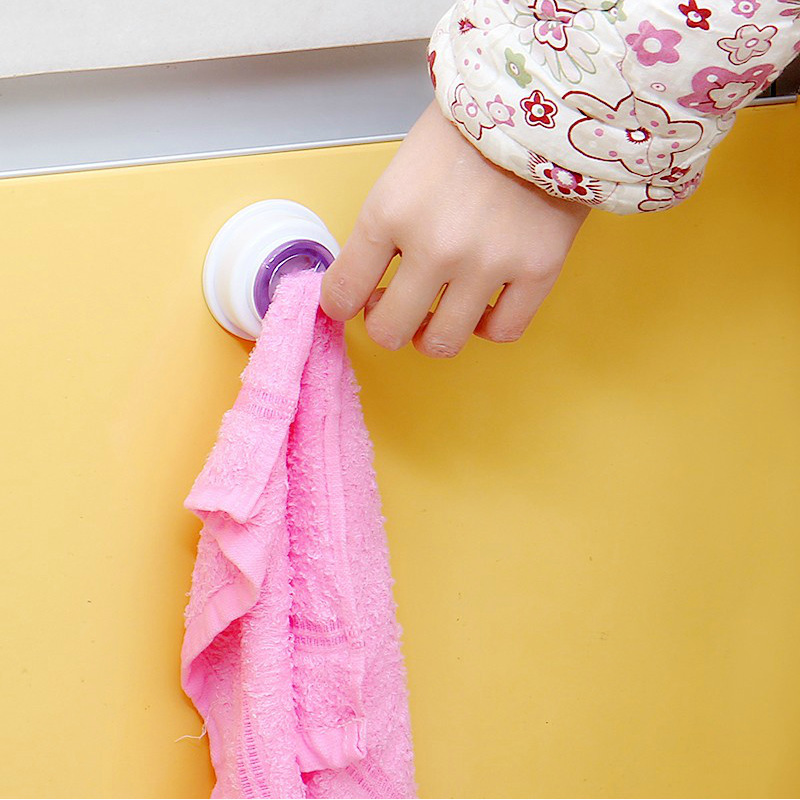 Kitchen wash cloth clip holder storage rack towel clips hook wall ...