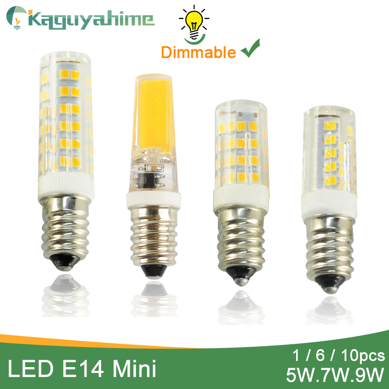 Kaguyahime 1~10pcs Dimmable High Bright COB Mini LED E14 Bulb Light 220V E14 LED Lamp Lampada Ampoule Bombilla Lampara 5W 6W 7W