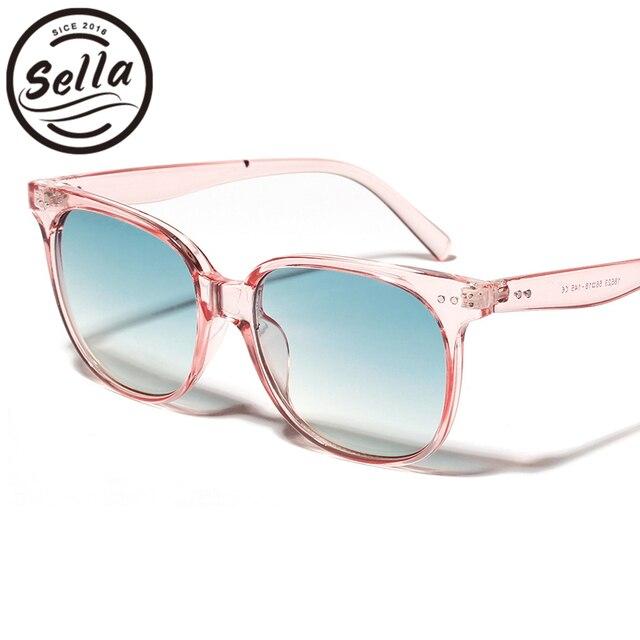 36c9a04c8b4 Sella New Fashion Women Men Candy Color Square Sunglasses Trending Ladies  Jelly Color Transparent Frame Gradient Lens Glasses