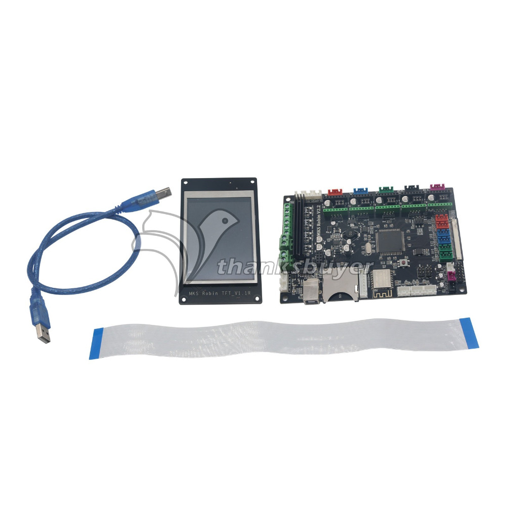 3D Printer Motherboard 32bit ARM with MKS Robin TFT Touch Screen Module for DIY tlm37v76 125669 motherboard rsag7 820 2220 roh with lc370wxn screen