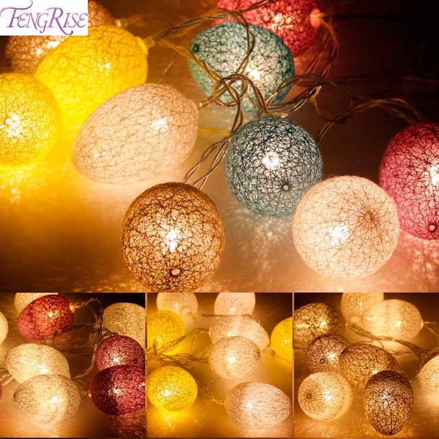 Qifu easter egg string light 18m plastic cotton battery lamps qifu easter egg string light 18m plastic cotton battery lamps easter party decoration for home negle Image collections