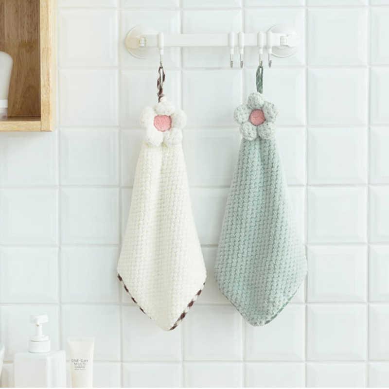 SINSNAN 4 шт. супер абсорбирующее высококачественное полотенце для рук из микрофибры Детские носовые платки для взрослых полотенце для лица кухонные полотенца с петелькой