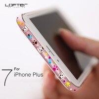 Colorful Cute Cartoon Ultra Thin Aluminum Bumper For IPhone 7 7 Plus Slim Metal Frame Phone