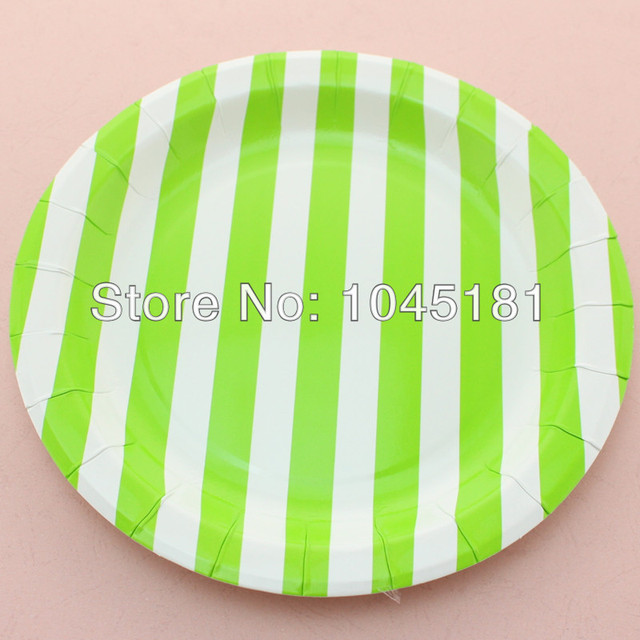 ipalmay 12 pcs/pack Best Selling Green /white 9  Party Striped Paper Plates  sc 1 st  AliExpress.com & ipalmay 12 pcs/pack Best Selling Green /white 9