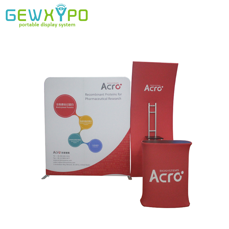 Exhibition Booth Height : 270cm width 230cm height expo booth portable tension fabric printed