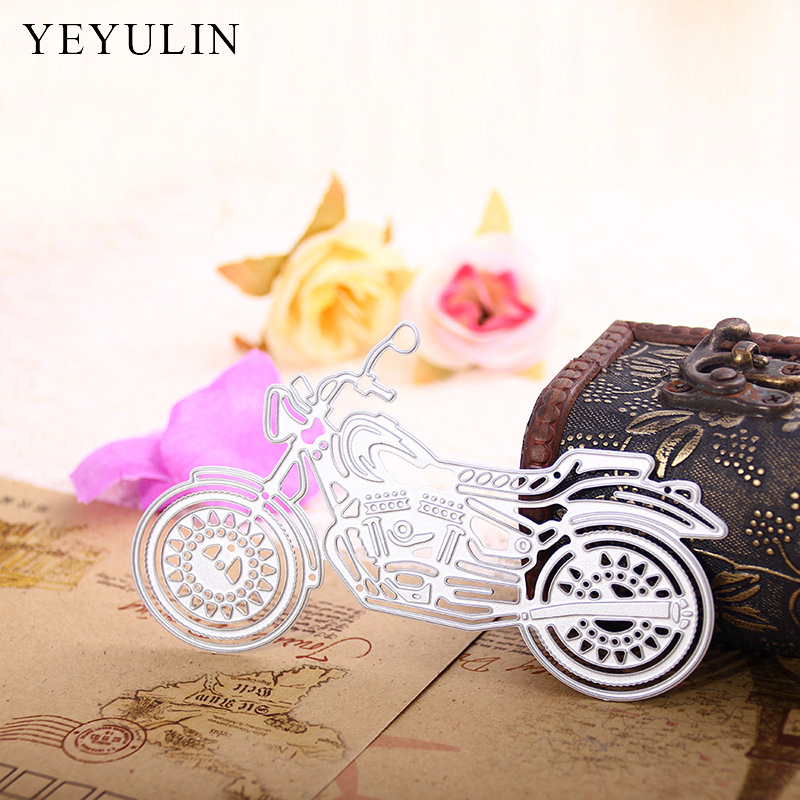 New Arrival Motorcycle Shaped Die Cutter For Scrapbooking Stencils DIY Album Cards Embossing Cutting Dies