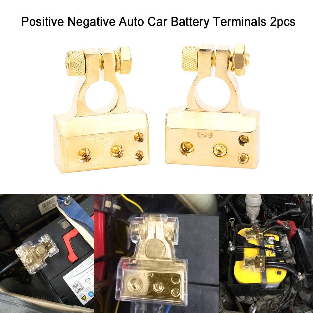 2pcs 4/8 Gauge Positive Negative Auto Car Battery Terminals