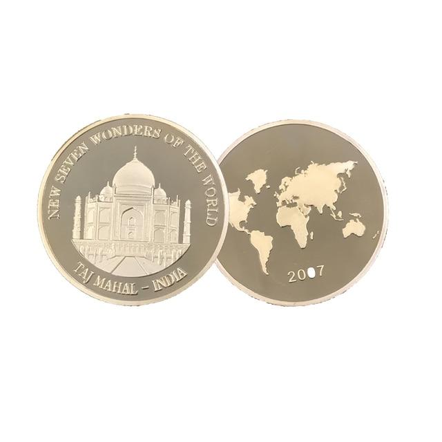 Indien 24 Karat Gold Münze Dekorative Taj Mahal Wunder Von Indien