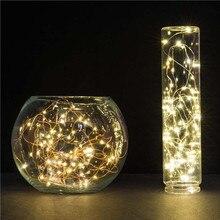 Аккумулятор Power 5M 50 Светодиодный медный провод Светодиодный светильник для Xmas Garland Party Wedding Decor Christmas Flasher Fairy Lights