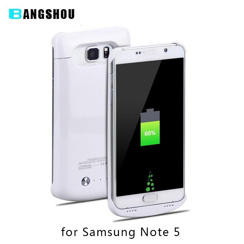 imágenes para 4200 mAh Cargador de Batería Externa para Samsung Galaxy Note 5 Cubierta de la Caja de Batería Recargable para Note5