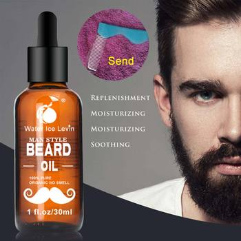 High Quality 30ml Men Beard Oil for Styling Smoothing Mustache Growth Care Conditioner Softener Facial Grooming 1