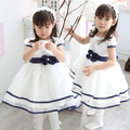 Niñas bebés Niños Fiesta de Navidad Princesa Bowknot Blanco Formal Dress Tutú WS