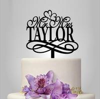 Mr e Mrs cake topper, Harry Potter Ispirato wedding cake topper, amore decorazione del partito, stella cake topper