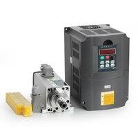 New!! 1.5kw air cooled spindle motor kit cnc spindle motor+220V/1.5KW inverter Square milling machine spindle Square