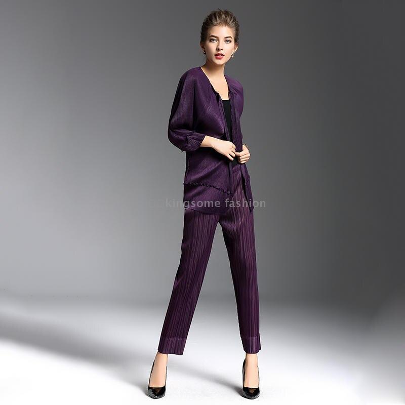 Miyake printemps et automne veste pli grande taille femmes à manches longues cardigan veste agaric plissée veste livraison gratuite