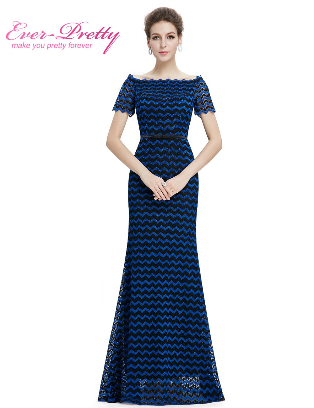 Mother of the Bride Dresses Ever Pretty EP08775 2018 Women Elegant Leaf  Sleeve Design Cap Sleeve Mother of the Bride Dresses-in Mother of the Bride  Dresses ... 837c14b3b902