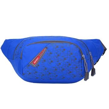 78631f5b47ae6 HU WAI JIAN FENG tırmanma Warterproof naylon açık spor bel paketleri Messenger  koşu bel çantası