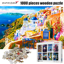 MOMEMO Scenery 1000 Pieces Wooden Puzzle Landscape Painting Adults Jigsaw Children Decompression Toys Gifts