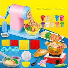 2018 Ny 3D Color Clay Mold, Ikke-giftig Plasticine Modeling Tool Kit, Noodles Machine Dumplings Maker, Kinesisk Food Playdough Toy