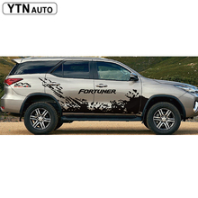 car stickers 4pc side body mud mountain vinyl graphic accessories decal custom for toyota FORTUNER 2015-2019