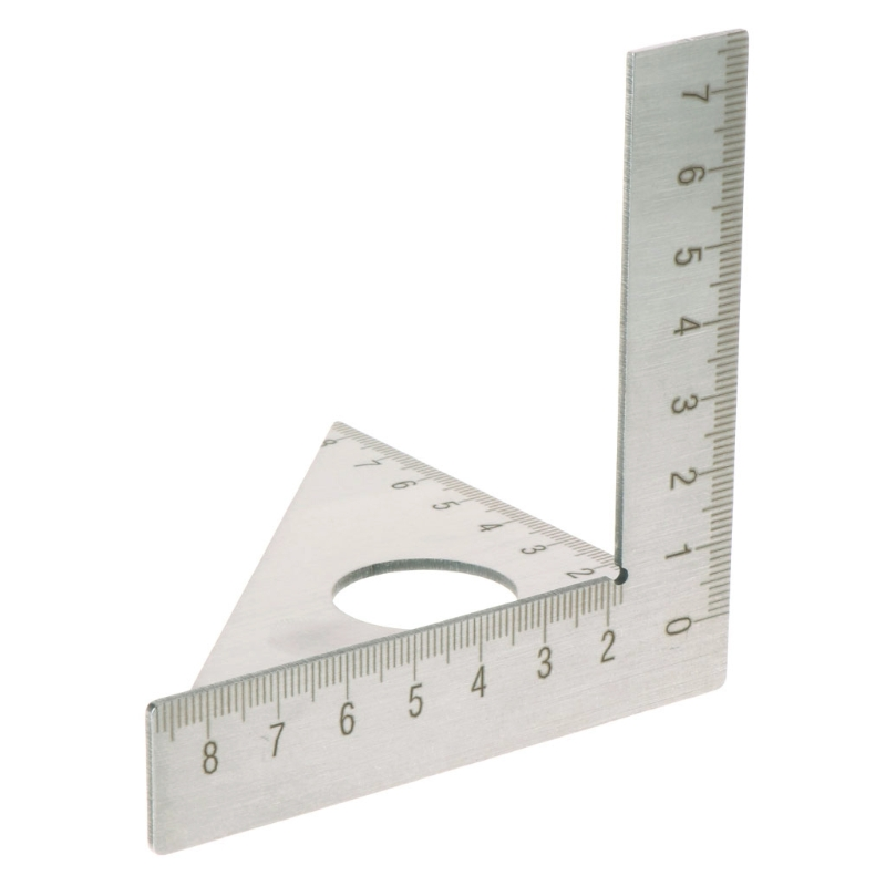 Woodworking Ruler Square Layout Miter Triangle Rafter 45° 90 degree Gauge Metric